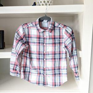 Gymboree boys plaid shirt - size 7/8